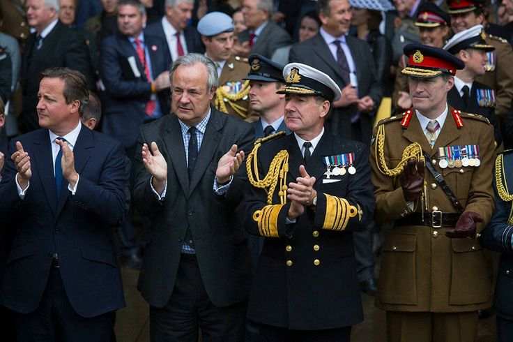 James Gray MP, the First Sea Lord and Chief of the Naval Staff Admiral Sir George Michael Zambellas, and Major General Edward Smyth-Osbourne CBE