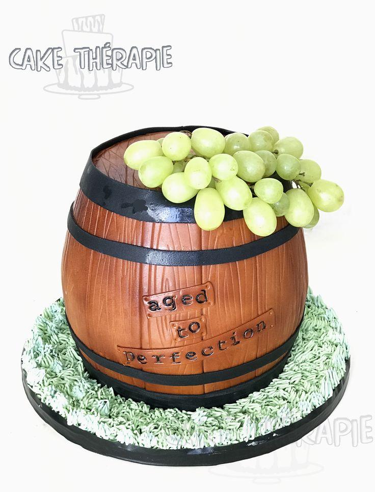 3D Barrel cake.