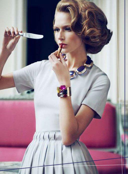 : Vogue Fashion, Mirror Mirror, Style, Vintage Hair, Hair Makeup, Mary Claire, Big Hair, Retro Housewife, Beautiful Tricks