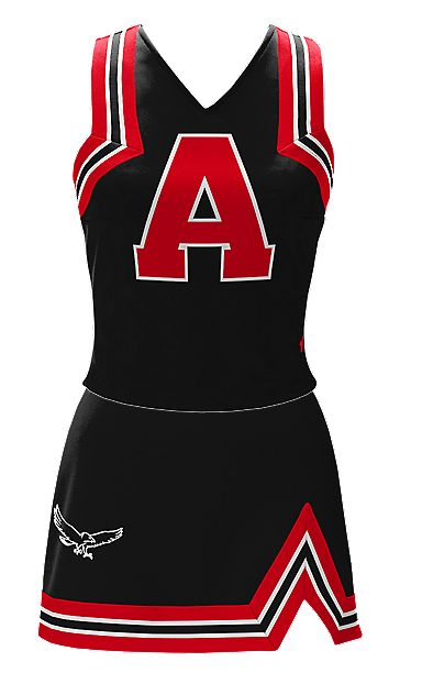 one ideal cheer uniform for me buy instead of an A mustangs written on it or west orange !
