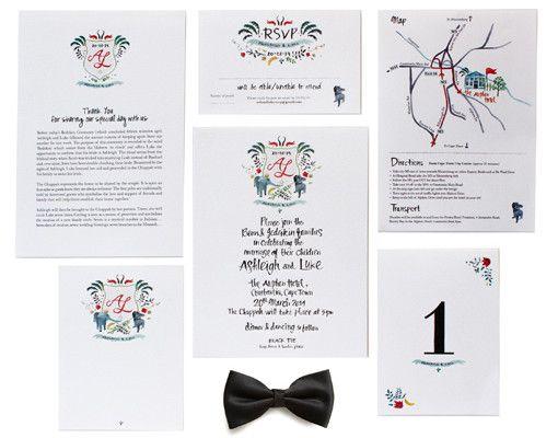 Wedding Stationery. Design & Illustration www.room13.co.za