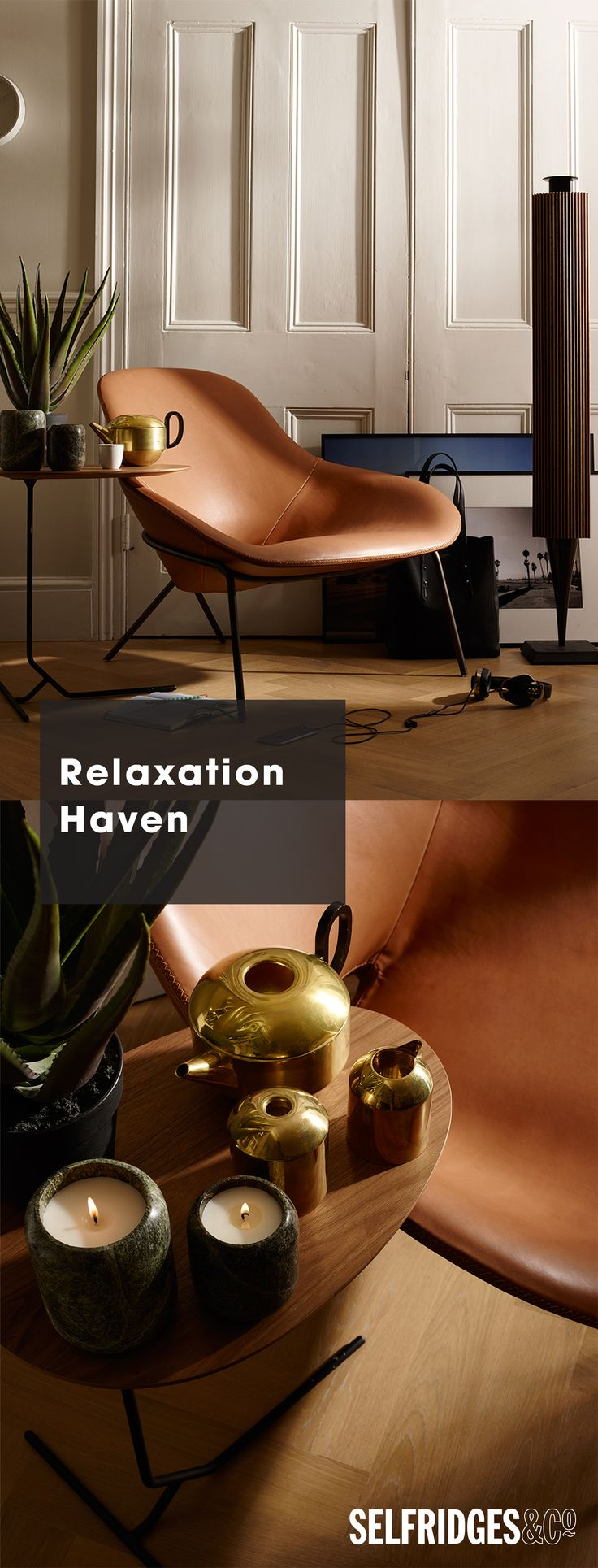 Discover and shop our showcase of the of the very best in new contemporary home design from Selfridges Designed for Living.   The Relaxation Haven: peace and quiet is something that's sometimes hard to come by in our busy lives.  Invite a relaxing atmosphere into your lounge through sophisticated décor.