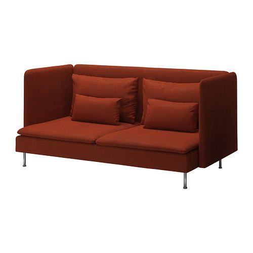 SÖDERHAMN 3-sits soffa, hög rygg - Isunda orange - IKEA