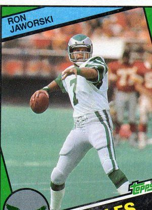 ron jaworski football cards | FREE: 1984 Topps Football Card of EAGLES RON JAWORSKI