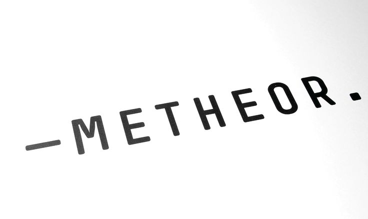 The Meteor logo - designed for a fringe theatre cie.