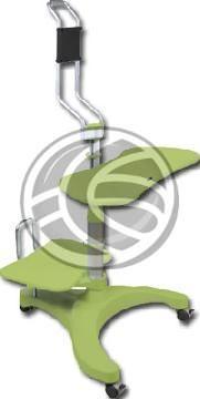 Escritorio móvil con ruedas, fácilmente transportable de un lugar a otro. Este escritorio integra la regleta de enchufes, bandeja para el teclado y ratón, soporte para la CPU y soporte para la pantalla plana. Es posible regular la altura del teclado y ratón, del soporte de CPU y del monitor. Dispone de amplia base con 3 ruedas frenadas. La base está diseñada de forma que las ruedas no molestan al operador y proveen suficiente estabilidad y robustez al escritorio. Modelo fabricado en metal…
