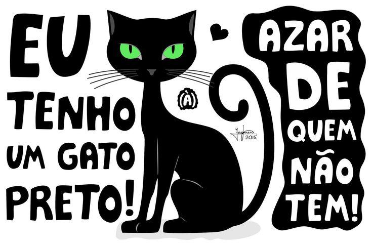 Eu tenho um gato preto