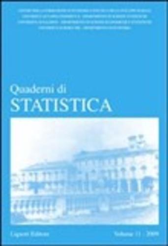 Quaderni di statistica (2009) vol. 11  ad Euro 18.70 in #Liguori #Scienze matematica