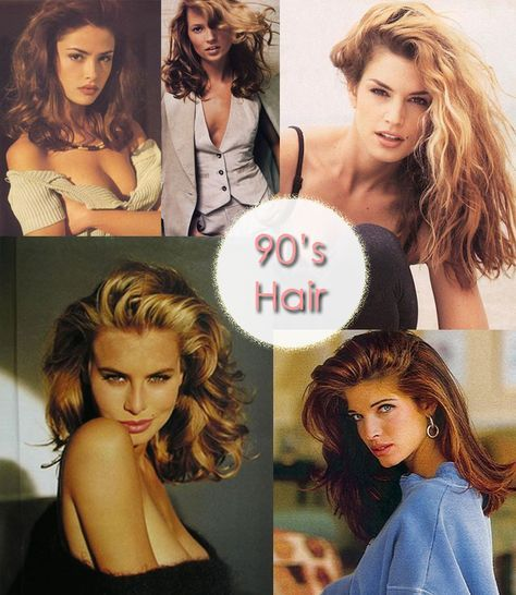 Modern+hair+inspiration+from+the+1990's+with+looks+from+Supermodels+Cindy+Crawford,+Kate+Moss,+Amber+Valletta,+Stephanie+Seymour,+Niki+Taylor,+and+more.