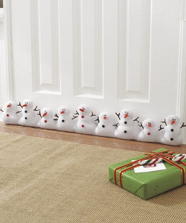 Another great find on #zulily! Snowman Plush Draft Stopper by GANZ #zulilyfinds