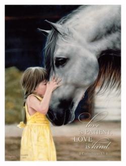 : Picture, Little Girls, The Kiss, Hors Girls, Lesley Harrison, Horses, Art, Animal, Kid