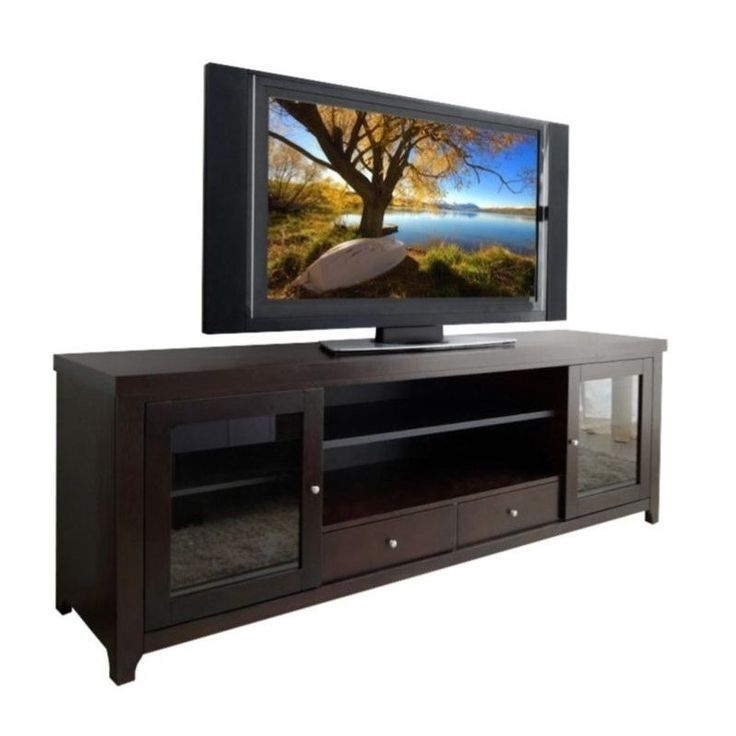 "Abbyson Living Harper-Lee 72"" Wood TV Stand in Espresso - HM-5420-1340"