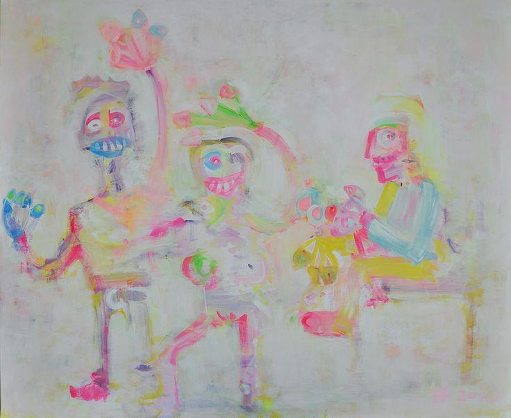 Forgotten Kingdom - arrival of Saints, Acrylic on canvas 100x120, 2016, Painting, Modern Art