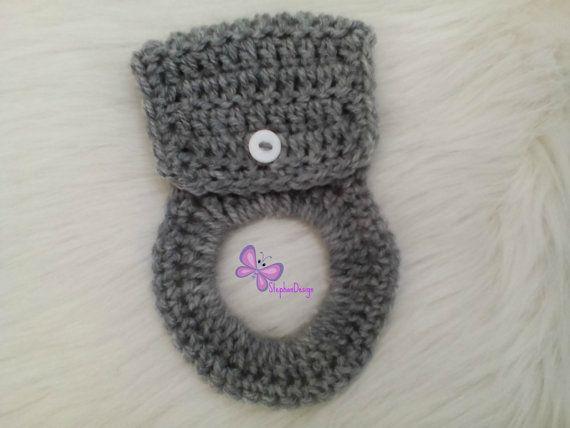 Kitchen Towel Holders  Crochet Towel Hangers by StephanDesign