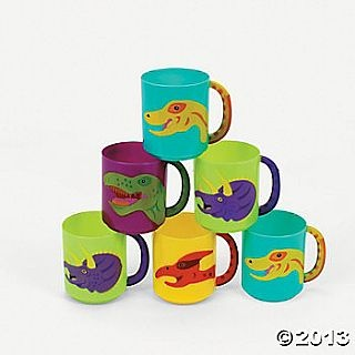12 Reusable Plastic Dinosaur Cups for Party Bags, Party Bags & Favours, CUPS FOR PARTY BAGS, kids party supplies, childrens partyware, birthday party supplies, childrens party shop, kids party tableware