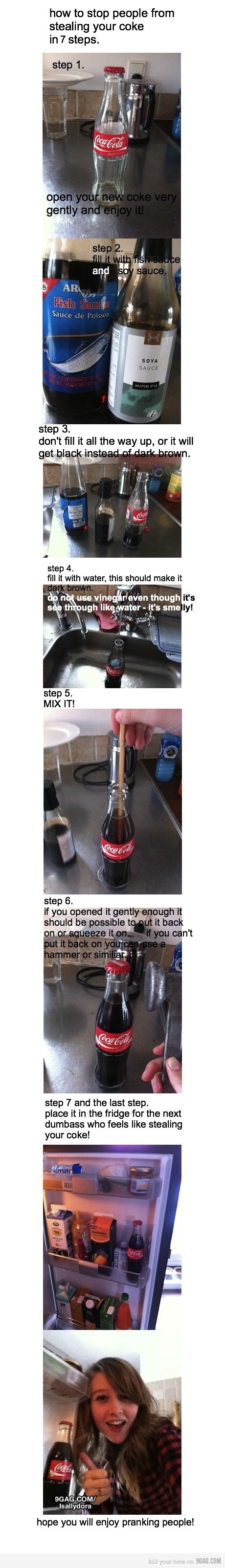 How to stop people from stealing your coke