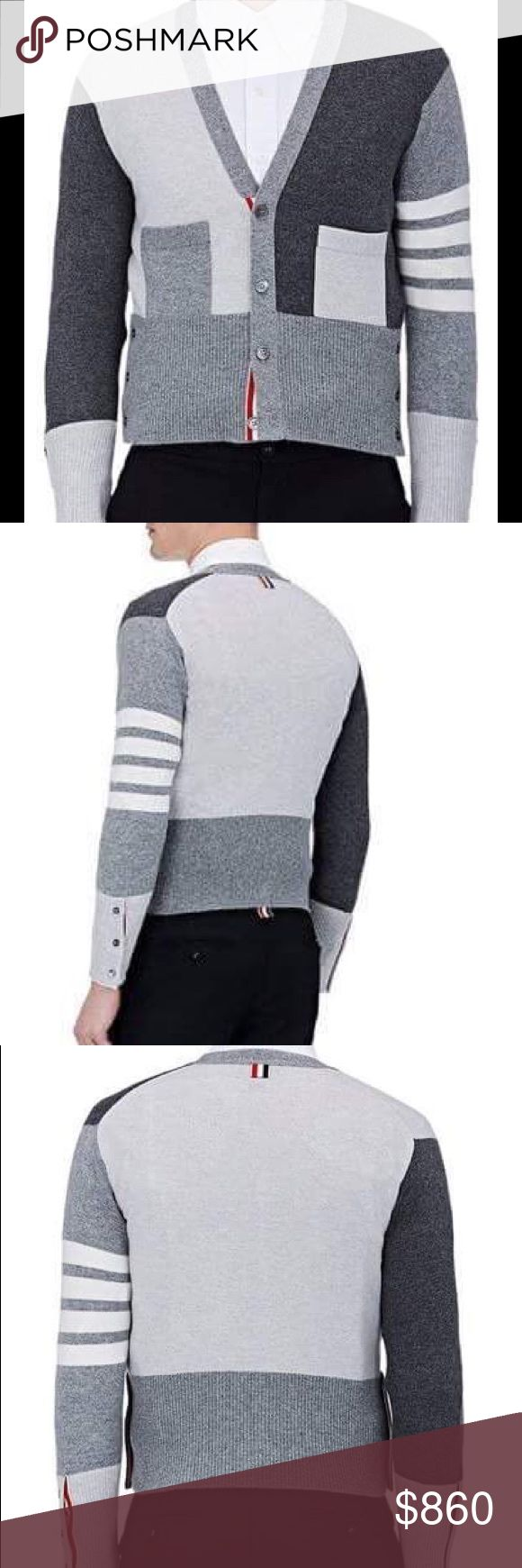 Thom Browne colorblock cashmere cardigan New Thom Browne cardigan Thom Browne Sweaters Cardigan