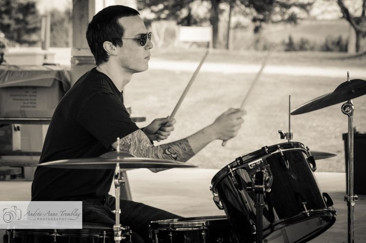 Playing the drums at SpringFest