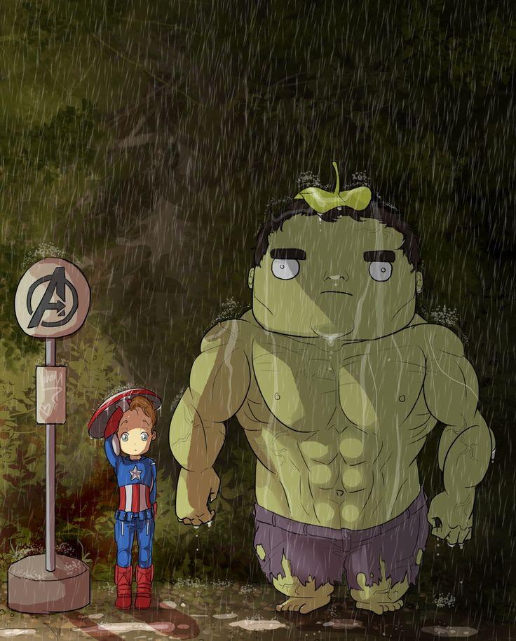 Avengers/Totoro mashup