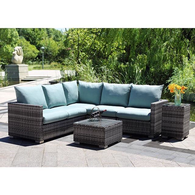 ON SALE NOW! Sit back and enjoy the sun with this Outdoor Lounge Set. 💙 Featuring corner sofa, coffee table and side table, this suite is all you need to relax and unwind outdoors this summer.  PE rattan with Olefin fabric. 🌿 Packed KD style – requires assembly. Shop the sale in store or online via the link in our bio.