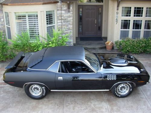 1971Triple Black 426 Plymouth hemicuda