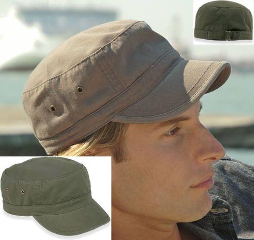 URBAN-ARMY-Cap-Fidel-Castro-Kuba-Look-Caps-Kappen-Kappe-ARMYCAP-oliv-BAUMWOLLE