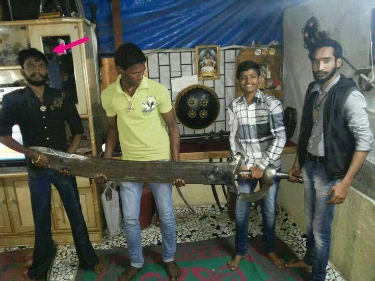 90kg sword of marathi king chatrpati shivaji maharaj of maharashtra. Hats off..