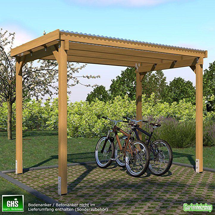 Ghs Unterstand 3x2 M Uberdachung Fur Gartengerate Gartenmobel Fahrradschuppen Holz Fahrrad Unterstand Fahrradschuppen