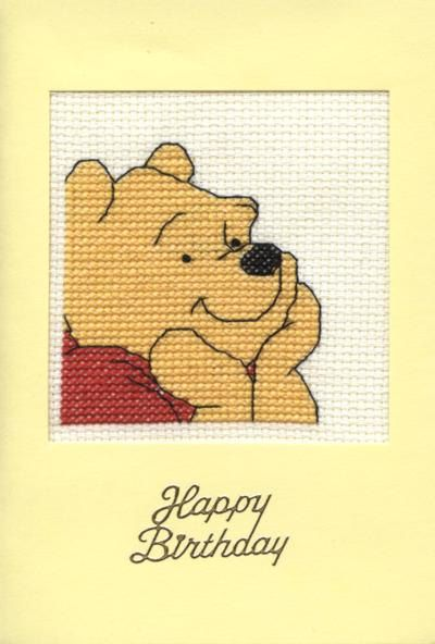 Happy birthday card with Winnie the Pooh design