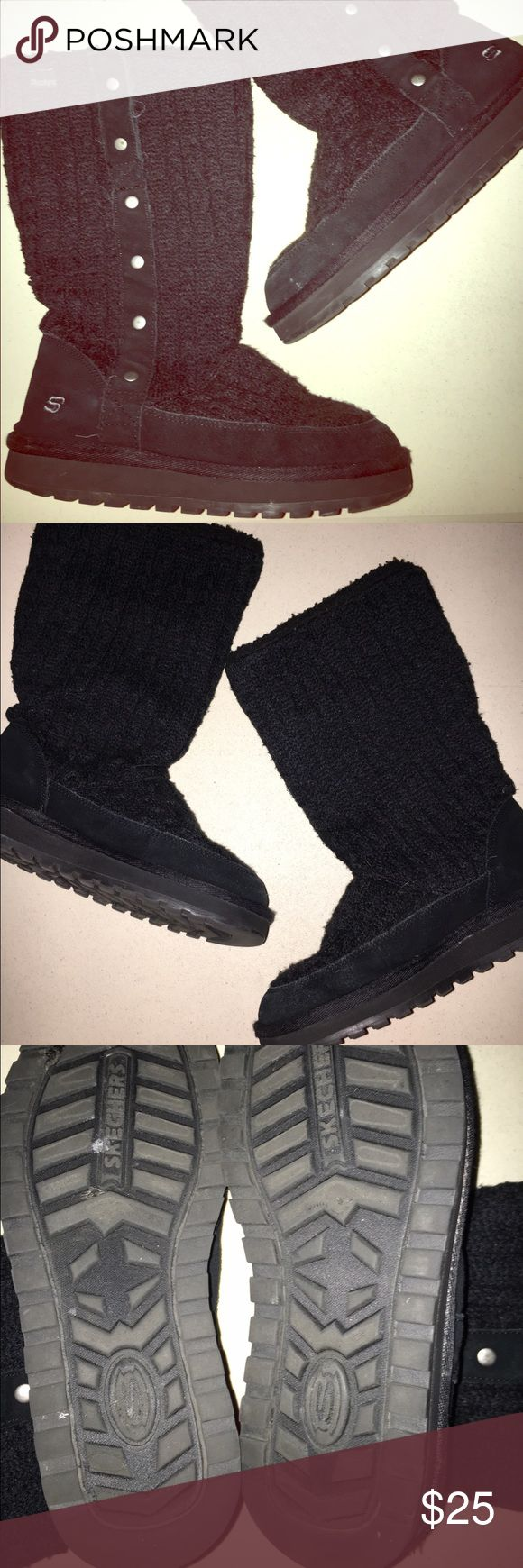 Sketchers Boots Sketcher Cardy boots. Can wear up or folded down. Can unbutton side & create a slanted fold over for a cool look. Sketchers Shoes Winter & Rain Boots