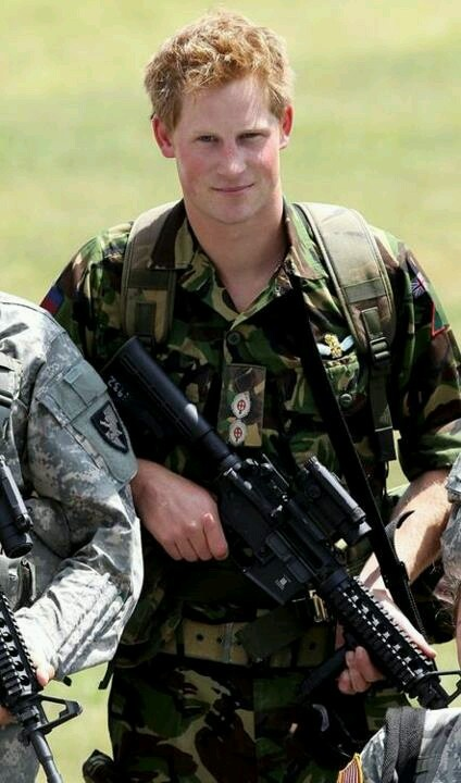 Prince Harry defending his country!