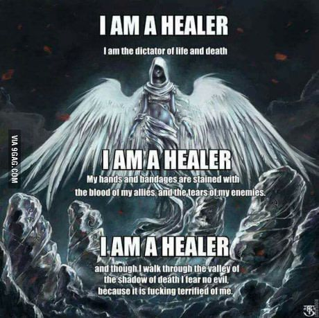 When you're a healer in wow
