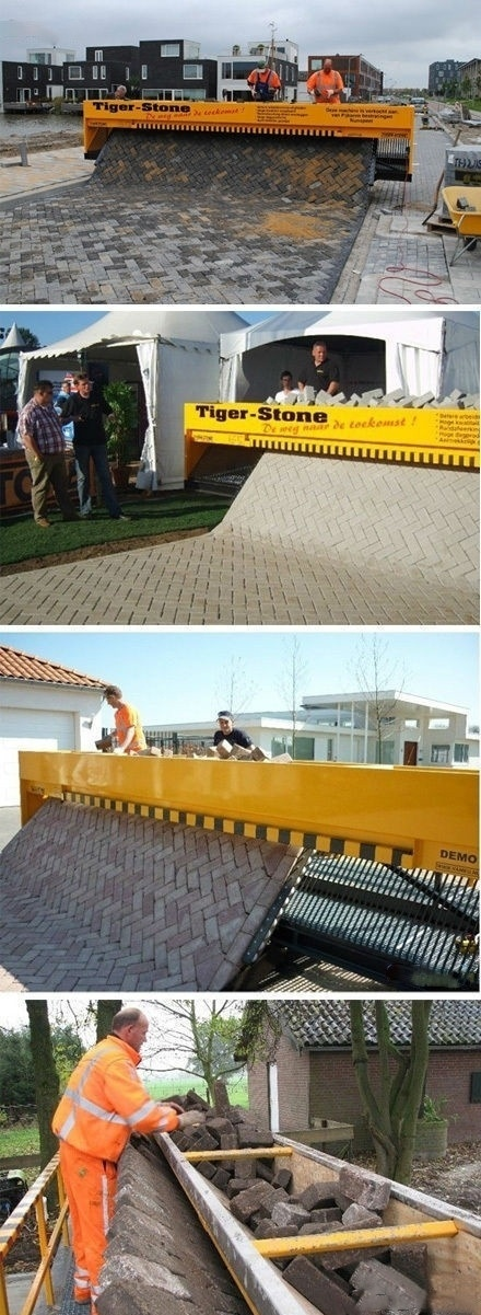 WHOA! A walkway knitting machine.  OK, maybe not but still totally awesome!!!