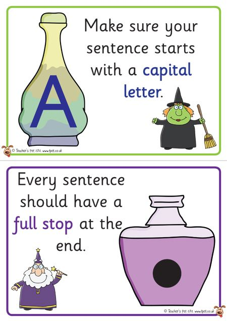 Teacher's Pet Displays » Potions for the Perfect Sentence Posters » FREE downloadable EYFS, KS1, KS2 classroom display and teaching aid resources