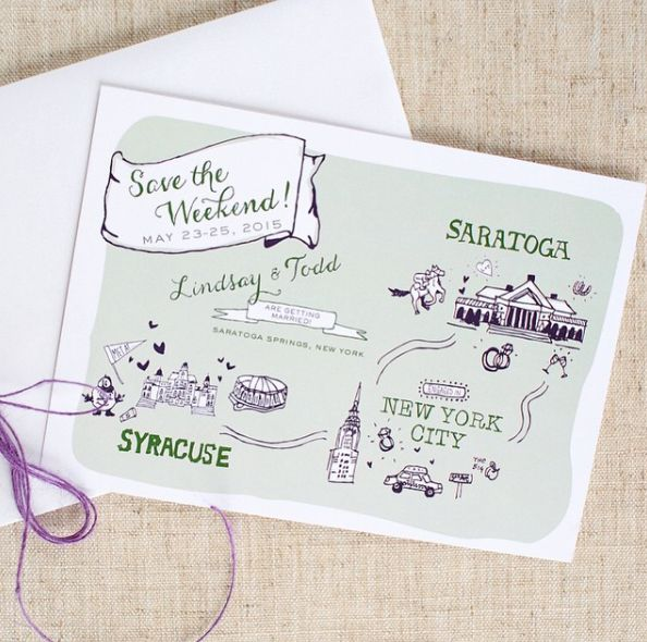 Map Save the Date, illustrated save the date, save the date ideas, Save the Date, Maps #savethedate #map #illustration