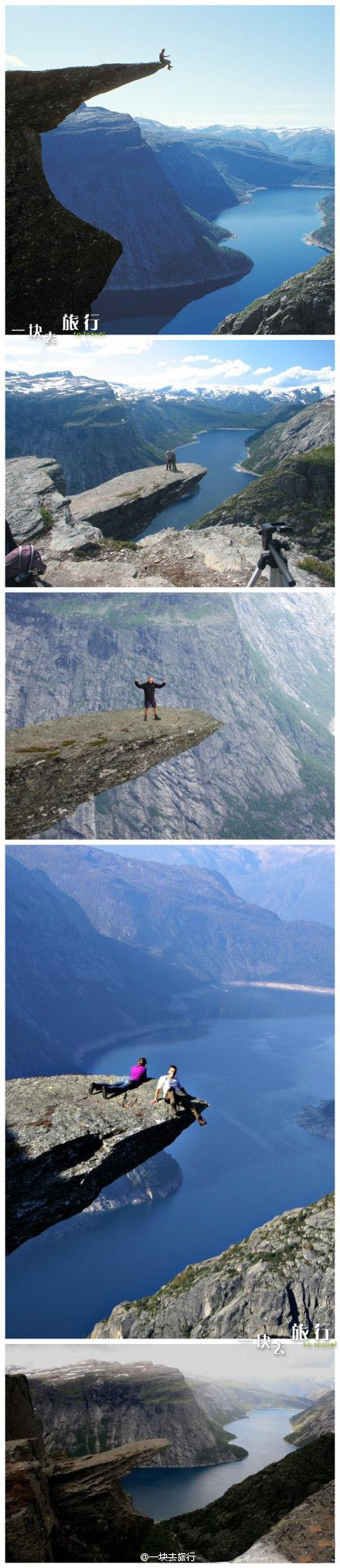 Trolltunga, Hardangerfjord region in Norway. A 10 hours hard hike to get there and back. One of the most spectacular places in Europe.