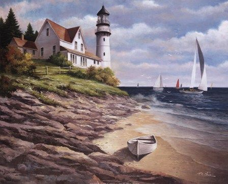 Lighthouse I Fine-Art Print by T.C. Chiu at FulcrumGallery.com