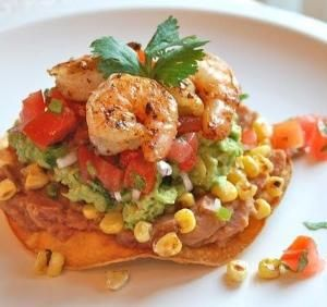 Shrimp Avocado Tostada by GoBrandSpirit