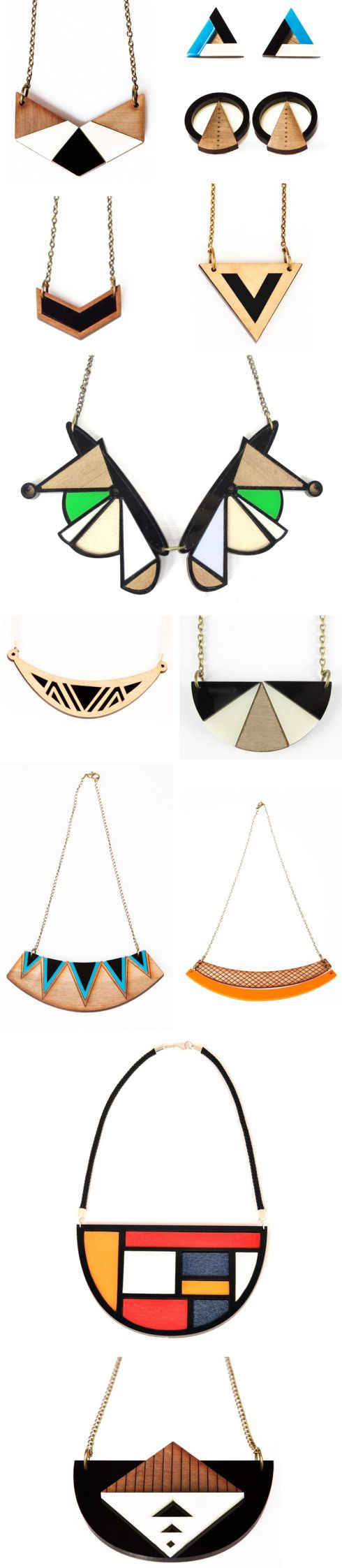 Geometric patterns, bygone eras & Art Deco glamour all inspire this GORGEOUS jewellery collection by Nylon Sky: http://morningedit.com/2013/05/08/nylon-sky/