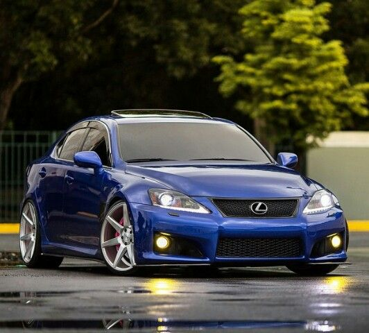 lexus isf vossen stance clean car blue wow