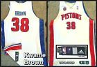 For Sale - Kwame Brown 2008-09 Adidas Game Worn Hm Wh Detroit Pistons Jersey  #1 Draft Pick