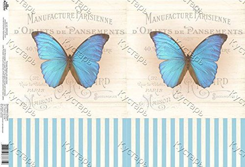 Rice paper for decoupage. Two blue butterflies and stripe... https://www.amazon.co.uk/dp/B01N7KJDEV/ref=cm_sw_r_pi_dp_x_AwZSybGG5JW8K