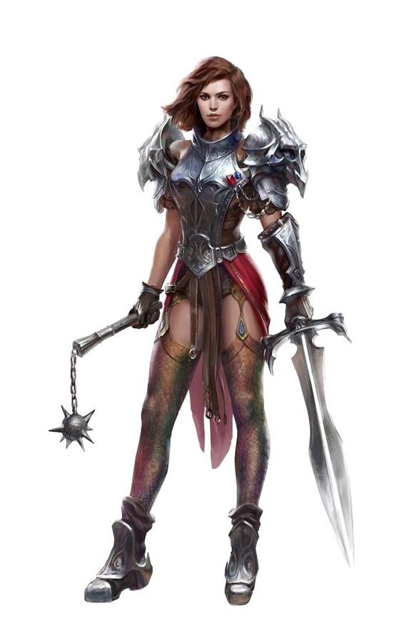 Female Two Weapon Fighter - Pathfinder PFRPG DND D&D d20 fantasy