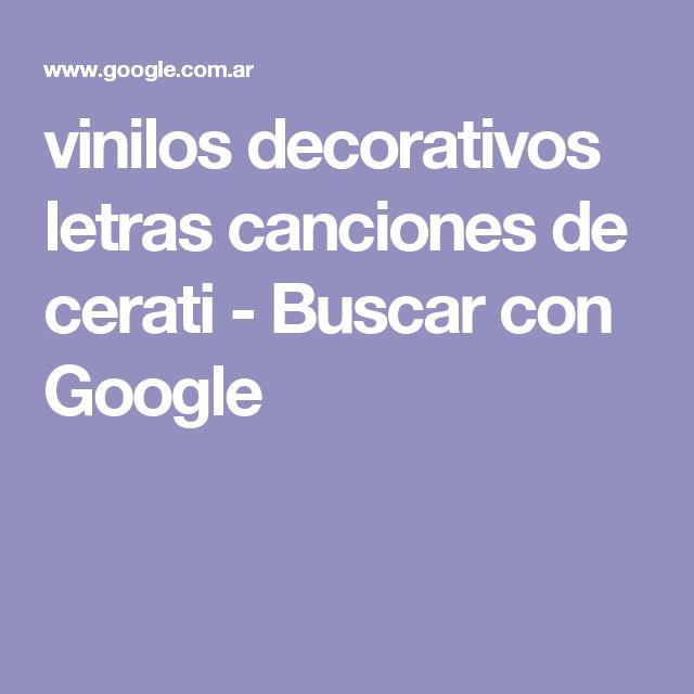 vinilos decorativos letras canciones de cerati - Buscar con Google