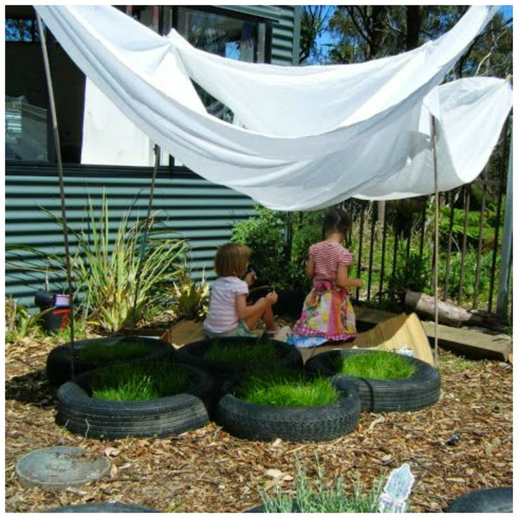 let the children play. natural outdoor play areas and ideas, easy shade using bamboo stakes