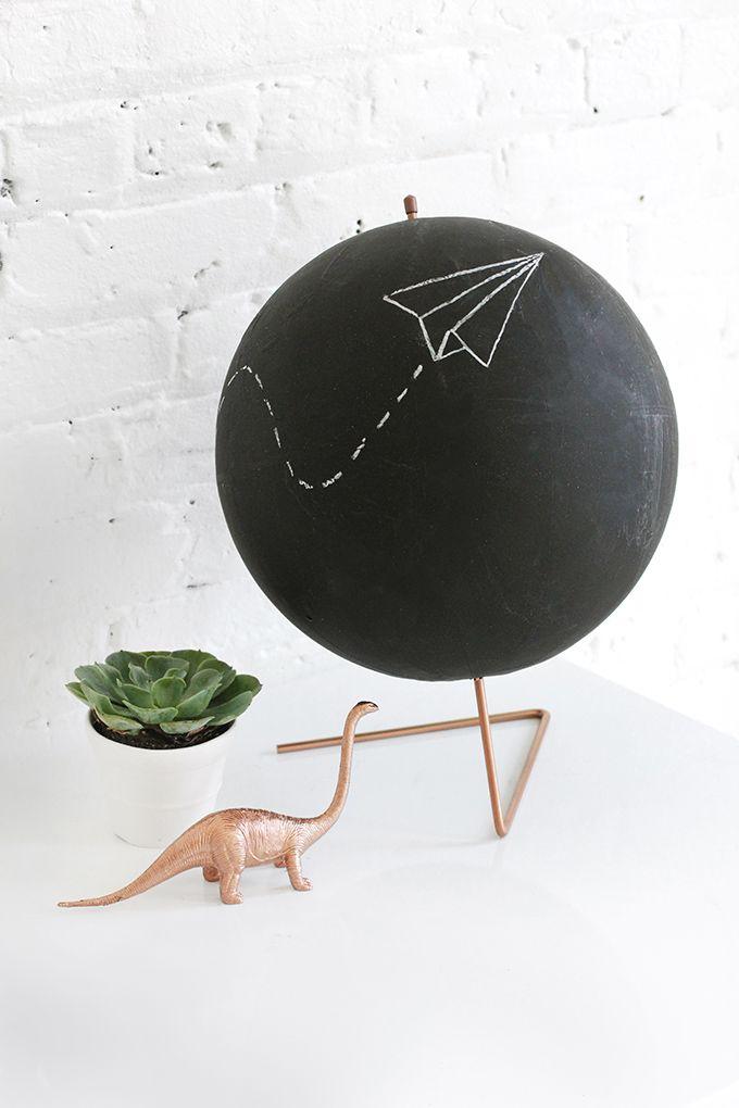 DIY Copper Chalkboard Globe