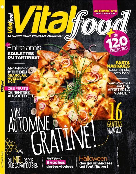 #vitalfood4 #vitalfoodmagazine #cuisine #healthy #recettes #gratins #tartines #halloween