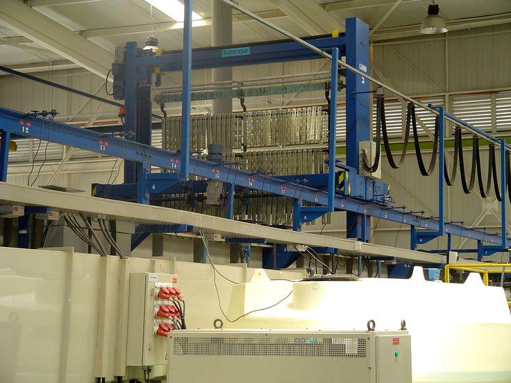 Linea de zincado #herrajes #tiradores #fabricas #muebles