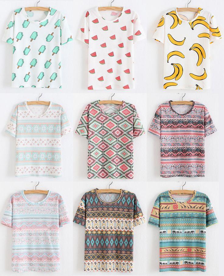 $45.000 COPS $250 ARS $15 US #Shalala #Ropa #Accesorios #Remera #Ilustrada #Camiseta #Sandía #Banana #Casual #Outfit