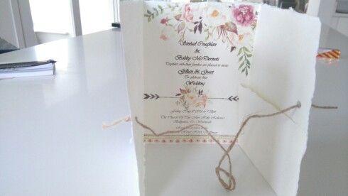 Our handmade wedding invitation